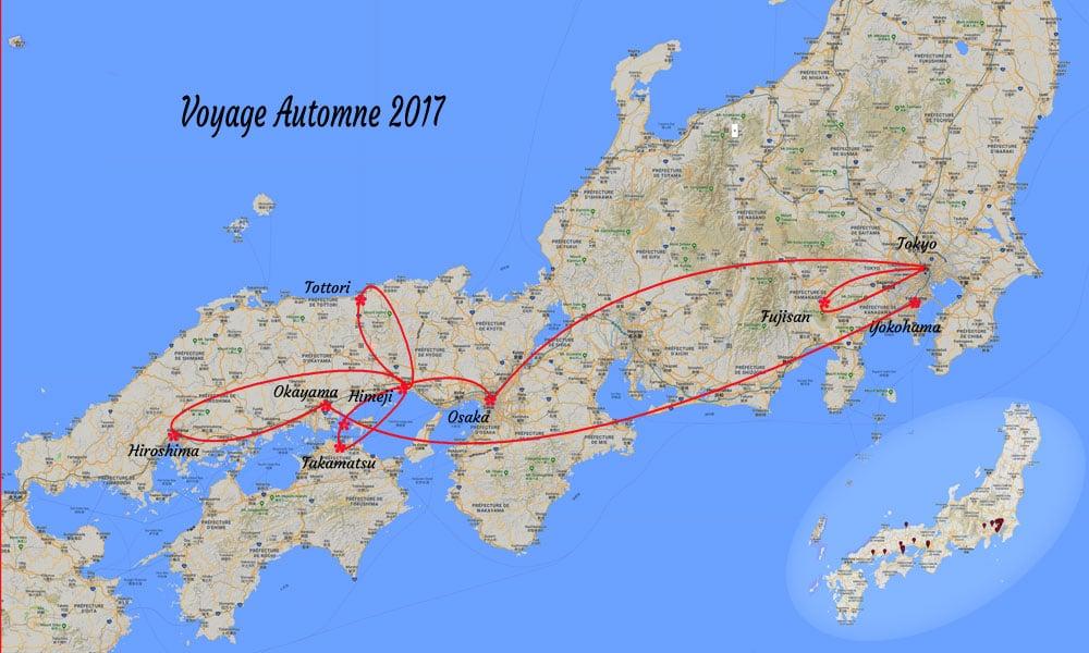 Itinéraire Automne 2017