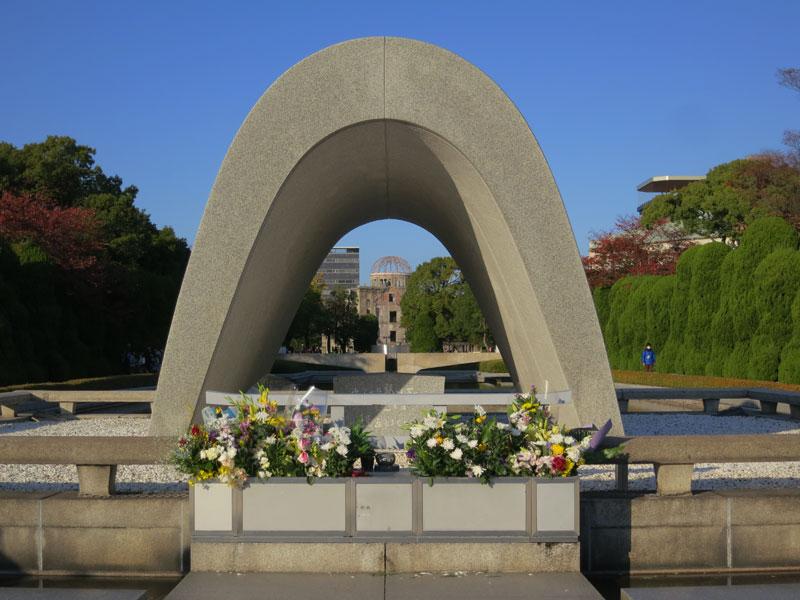 Hiroshima-2017-enfilade-dome-monument-paix