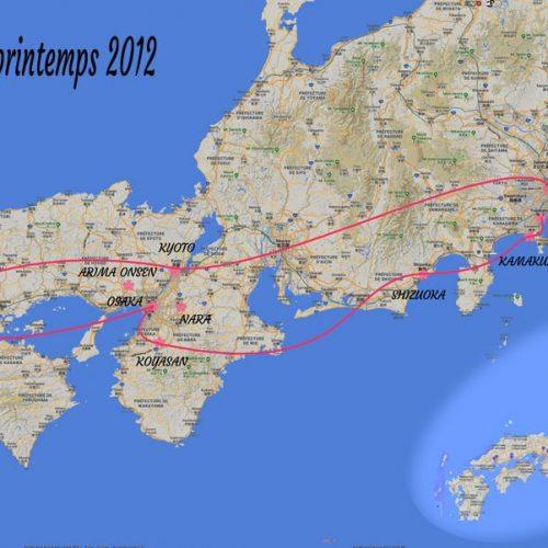 Itinéraire printemps 2012