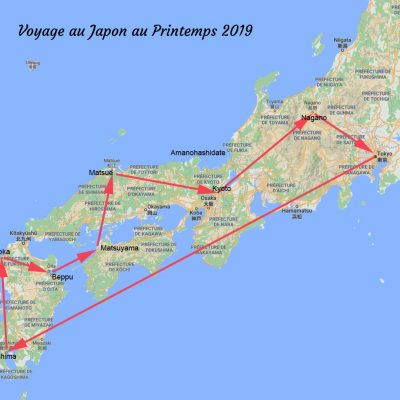 Itinéraire printemps 2019