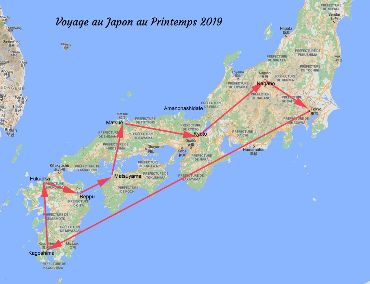 carte japon 2019