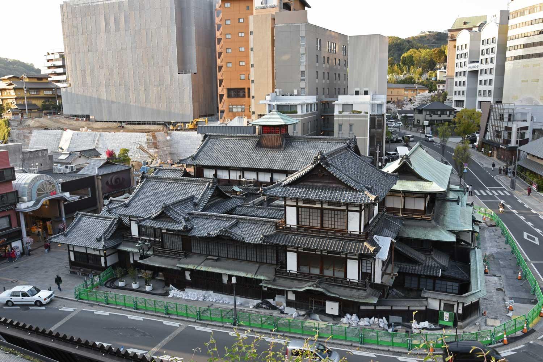 Matsuyama-2019-1-dogo-onsen-vue-de-haut
