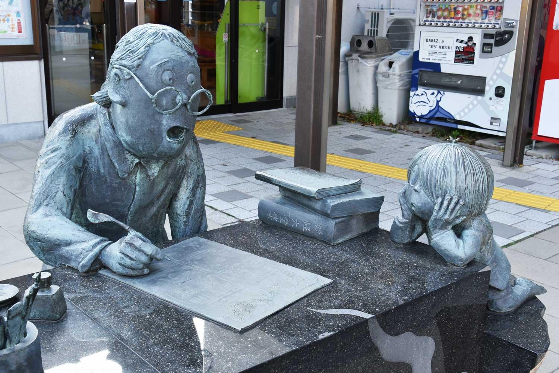 sakaiminato-2019-gare-statue-1 2 3 4 kitaro-et-shigeru-mizuki
