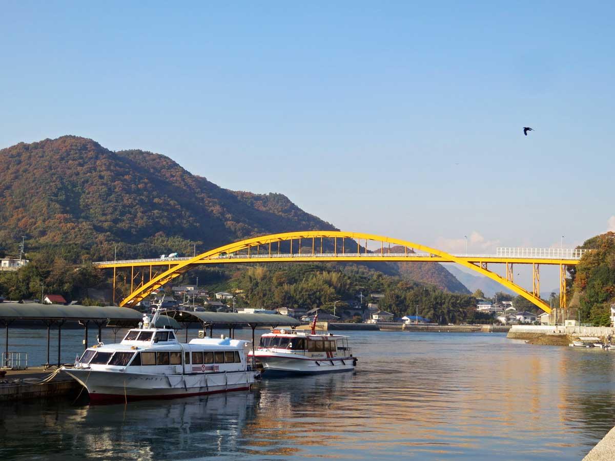 shimanami-kaido-2014-ikuchijima-setoda-port-takaneo-bridge
