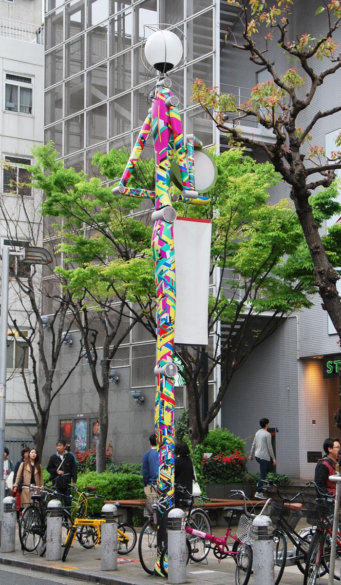 osaka-2016-big-step-amerika-mura-lampadaire